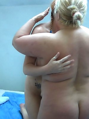 Hot chubby mature loves to please and get pleased from her hot younger girlfriend