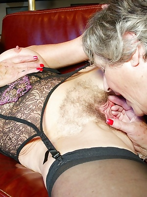 Steph wants more and more so GrandmaLibby  gets hold of a couple of big dildos and gives her a seeing to in both holes.