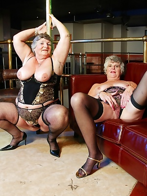 Grandmalibby and her very good friend Steph decided top mess around with the pole when they were invited to a club.  I g
