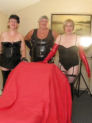Three horny doms get their hands and whips on to a willing slave.  I am sure this guy didnt know what to expect when Lib