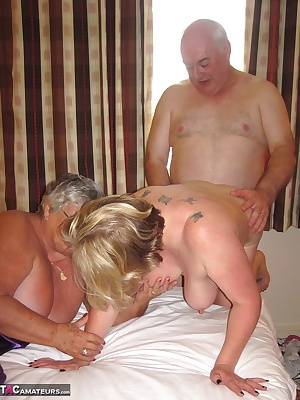A horny fucking threesome when Grandma gets together with Speedybee and her hubby who was supposed to be taking the pict