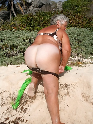 GrandmaLibby loves getting naked on the beach in Barbados although it isnt allowed and she has to be VERY careful not to