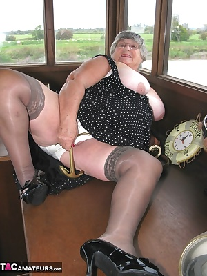 Wearing my posh polka dot frock, black stockings  high heel shoes I thought this was perfect to explore the delights of
