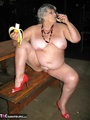 Naked at a picnic park and enjoying my banana in more ways than one.  Come on in and join me