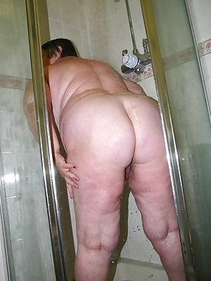 A steamy shower always makes me feels horny.  Just the feel of all that hot water trickling down over my breasts and pus