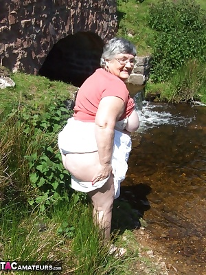 I find a lovely little stream to paddle in and cool off on a hot day.  I love to feel the cool water tickling my hot lit