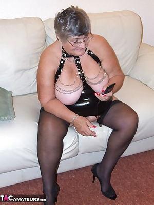 Wearing a sexy basque always makes me horny.  My big silver balls make my cunt lovely and wet ready to receive my huge r
