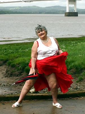 I love walking in the wind and letting my skirt blow over my head to show I am not wearing any panties.  Even the rain c