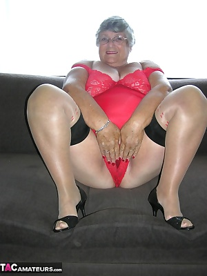 High heels and black stockings always make me feel horny  especially when I am wearing them with a tight red body.  I ca