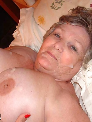 I am such a sexy and horny old grandma that I LOVE to feel hot, wet cum all over me,  In my pussy, on my boobs, spraying
