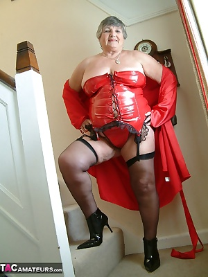 I love wearing PVC and this red basque is one of my favourites.   My member Jacques from France requested it so I hope y
