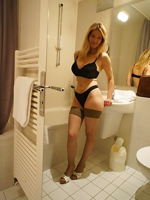 Heres a set of me getting hot and wet in the bathroom. Hope you like. Vanessa x