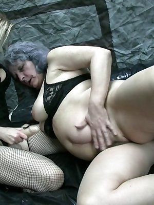 Mix of mature and granny women in hardcore action