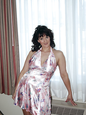 What a great gift I got A pretty pink dress new Stockings and a night out on the town. I had some sexy fun modelling whe
