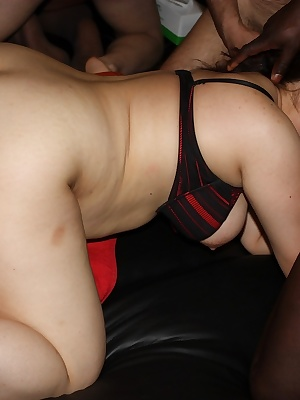 Here we go again. Another Saturday night and another massive gangbang in my local swingers club. Watch me and my girly h
