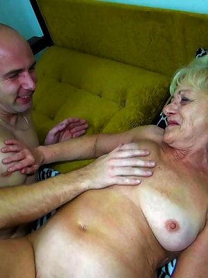 Blonde granny getting banged doggystyle
