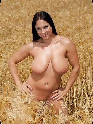 Hi, I did a shoot out on the farm on a beautiful day it was warm almost hot but being naked in a wheat field. outside of