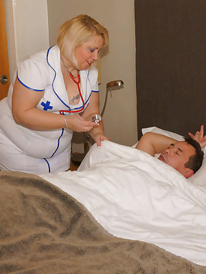 Nurse Lexie was asked to check in on a patient, Bruno was feeling unwell and wanted his temperature taken. Bruno was in