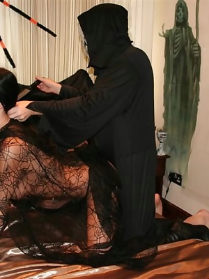 Theres only one way to celebrate halloween and thats with a good hard cock. Come and watch Witch Foxie get fucked just f