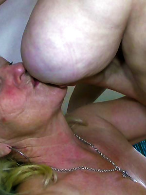 Busty older women fucking her gf with strapon