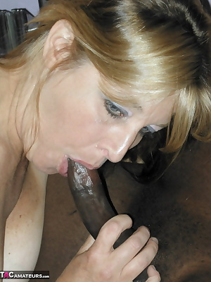 Liisa gets stuck in to a huge black cock