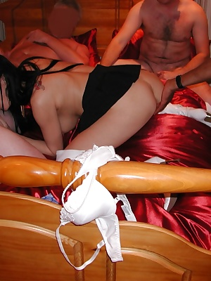3 hard and horny members take it in turns to sample my foxie delights. Hot gangbang action