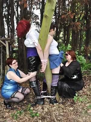 Carys and Bad Bi Bunny make use of the local trees to restrain Seraphim and Maleficent, and take advantage of the bound