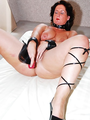 Hot slut wife Manuela is really feeling horny now and she is using her favourite big pony tail dildo. The dildo is going
