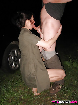 Cuckold wife outdoor fucking
