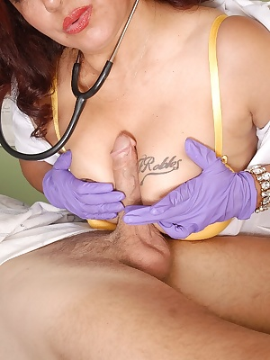 Mature nurse Flor is getting hardcore fucked in her puss by small dick