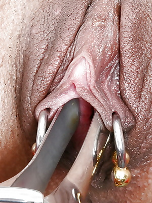 Mature UK slut Lady Sarah having pierced cunt licked out by lesbian