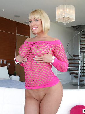 Jordan Blue: Curvy blonde slut gets banged hard