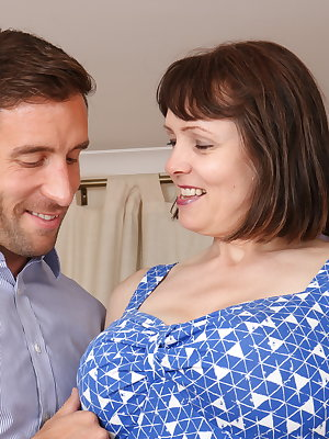Big breasted British housewife fooling around with her lover