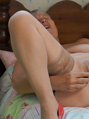 Granny old masturbating the hell out of their pussies