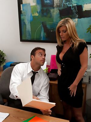 Kristal Summers fucked in the office