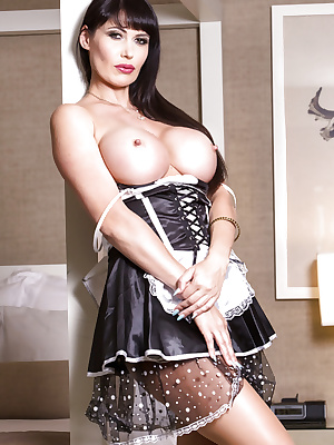Busty French maid Eva Karera