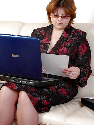 BBW mature business-lady