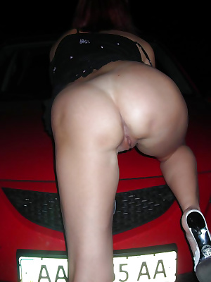 Over 40 wife flashing ass outdoor