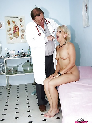Gyno office visit gets kinky with doc checking matures pussy vitals
