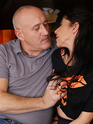 Horny mature  lady getting frisky with her lover