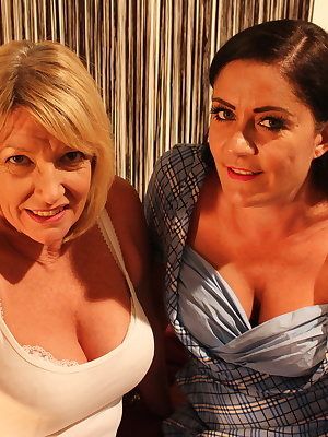 Two British bisexual housewives share one cock
