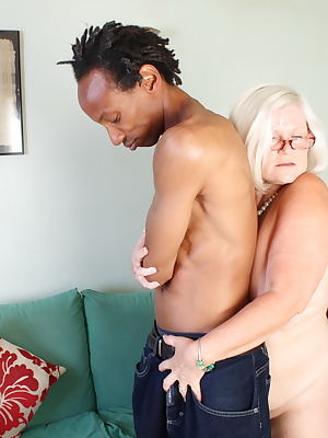 Naughty British BBW going interracial