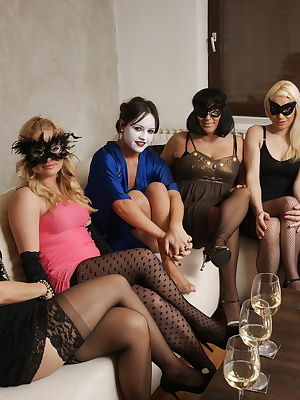 Welcome to a very naughty all female housewife party