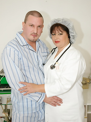 Big mature nurse gets an anal creampie surprise