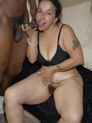 This horny mama loves the taste of black cock
