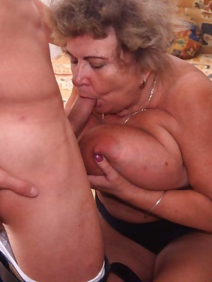 Chubby mature slut fucked by a younger man